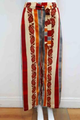 Silk multi color trouser