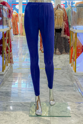 Linen navy leggings with side lace detailing